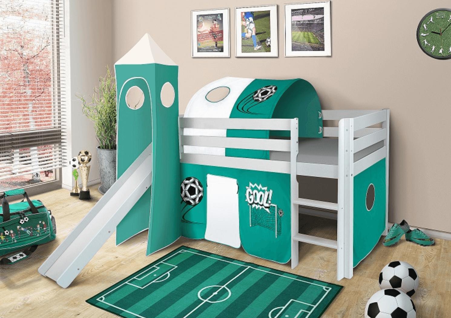 vyvýšená detská posteľ