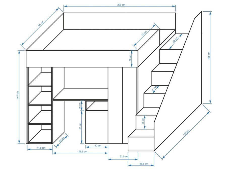 poschodová posteľ multifunkčná